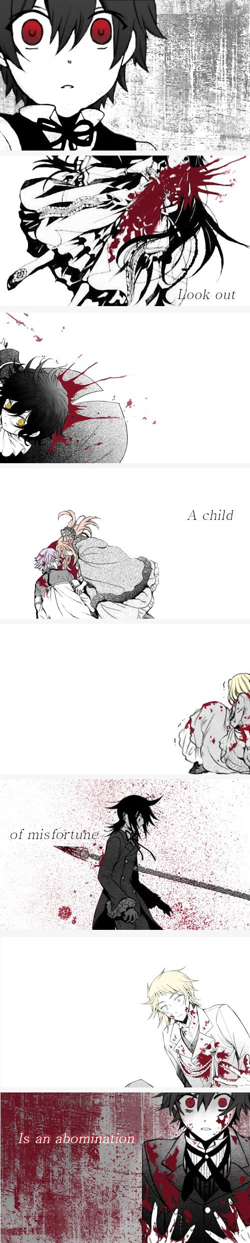 """""""Pandora Hearts AU: Oz is born a Child of Misfortune, and his 'cursed eyes' hurt those who are most precious for him…"""""""
