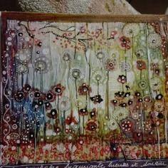 Illustration sur  calque marouflé sur carton toile . 20*24 - ma nature luxuriante