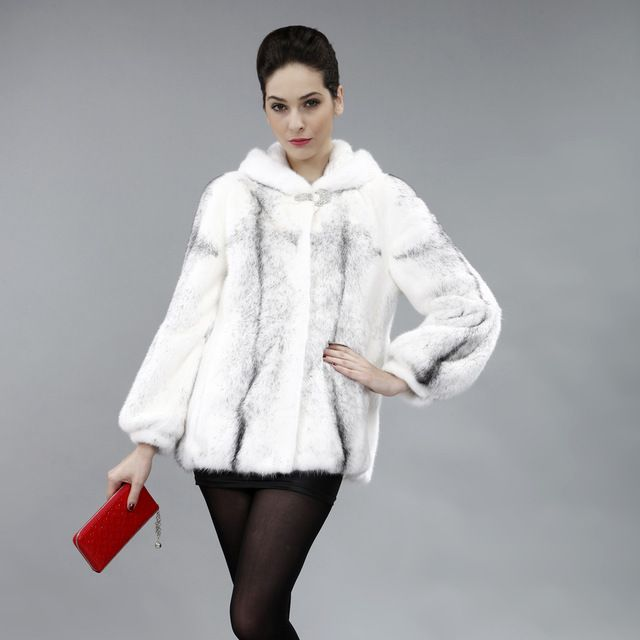 Plus size bust 102cm Fashion Ladies' Mink coat,Noble high quality Ladies' marten over coat mink fur jacket Free shipping FPD174