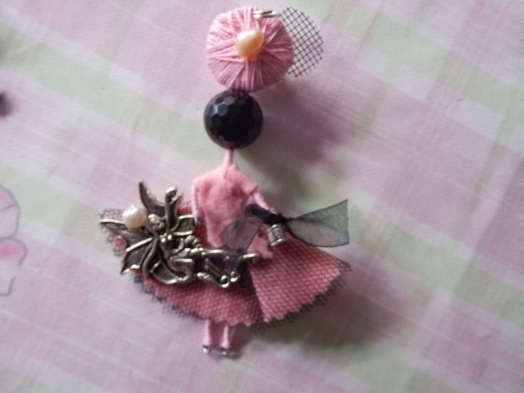 con Hada en rosa de Algodón de Luna