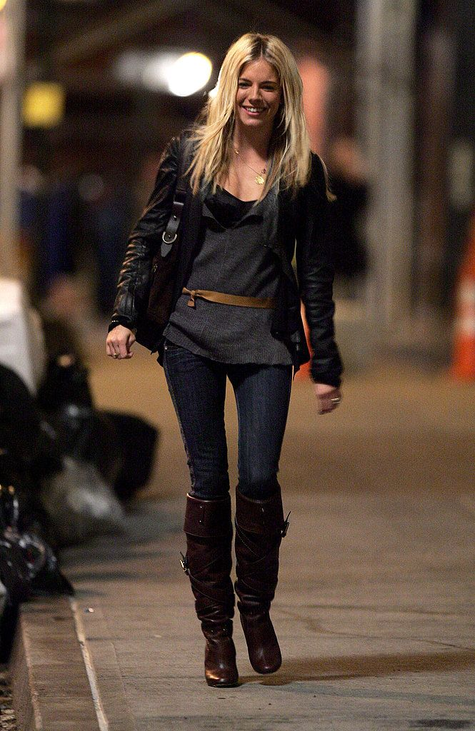 See Boho Beauty Sienna Miller's Best Looks Over the Years: Sienna looked city-girl cool in leather in 2006.