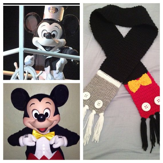 Steamboat Willie Mickey Mouse inspired Scarf by CrafTCreation13