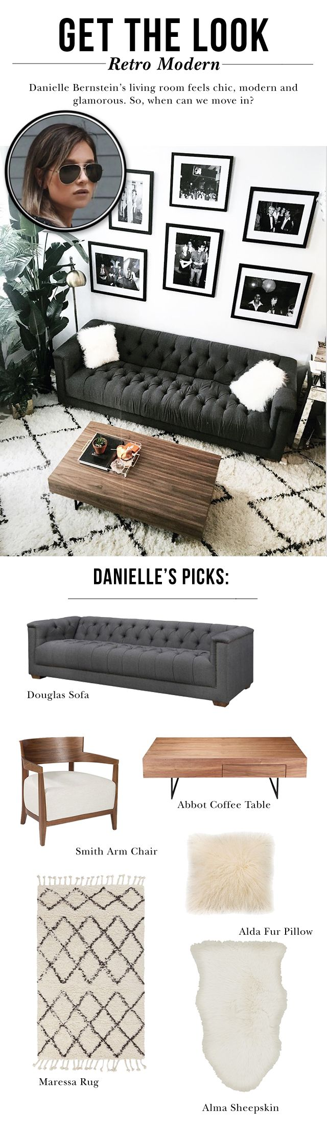 We Wore What's Danielle Bernstein uses nothing but neutrals to dress up her living room. We're loving it.