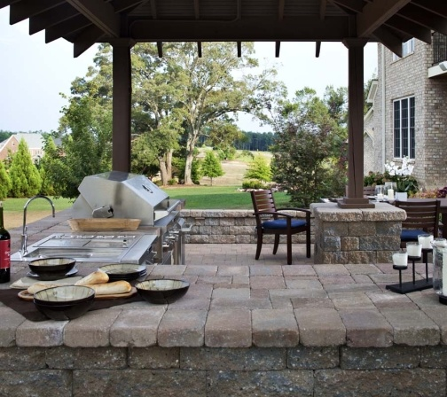 Expand Your Homes Living Spaces With A Customized And Fully Equipped Pavers Outdoor  Kitchen. Awesome Design