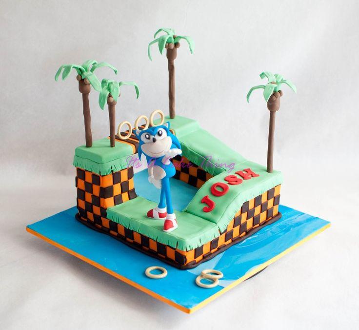 soniccakes:  Sonic the Hedgehog cake  SOURCE  #anime #cosplay #costume #otaku #gamer #videogames