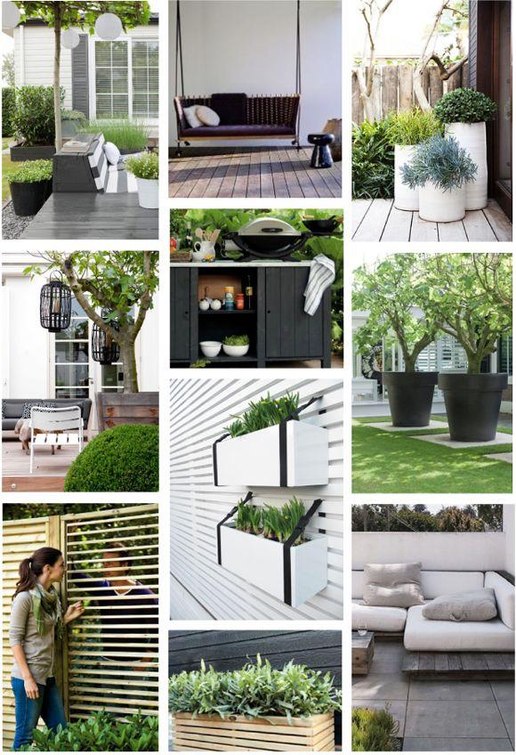 Moodboard groene tuin zwart wit accenten | Interieur design by nicole  fleur