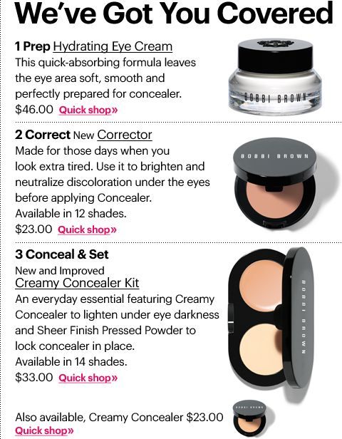 Bobbi Brown 3-step under eye concealer to glowing skin  Use it every single day!