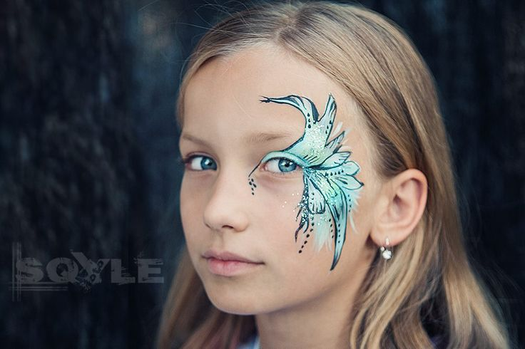 face painting tyrque fairy  inspiration by Daisy Dezign facepainting