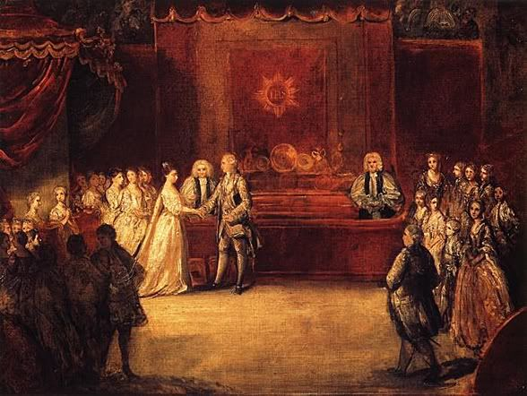 September 8, 1761: George III married Duchess Sophia Charlotte of Mecklenburg at the Chapel Royal, St. James's Palace