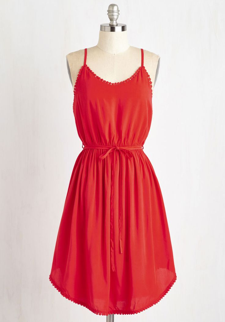 Right to Delight Dress in Ruby