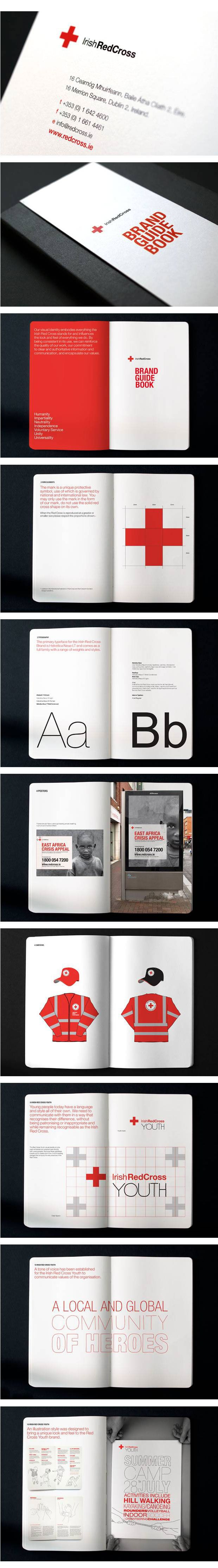 Cool Brand Identity Design. Irish Red Cross. #branding #brandidentity [http://www.pinterest.com/alfredchong/]