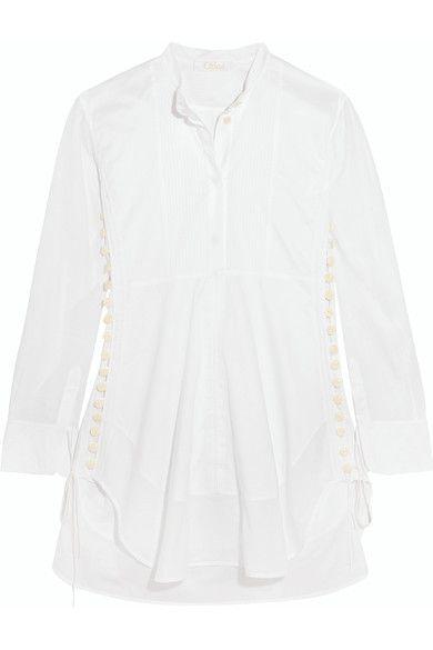 Chloé - Cotton-voile Mini Dress - White - FR38