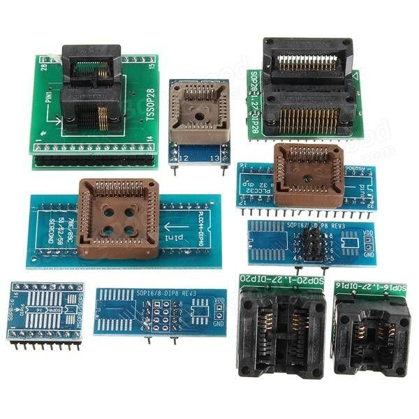 TL866A USB minipro programador 10x adaptador de flash EEPROM 8051 AVR MCU SPI icsp