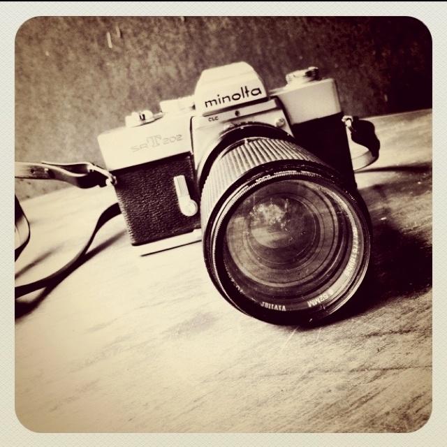 "Minolta SRT 202-my first ""real"" camera. :)"