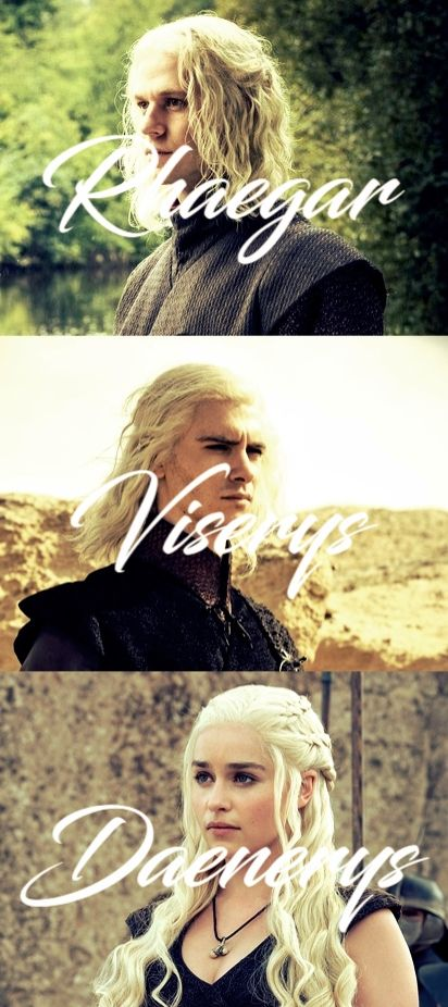 The Targaryen Siblings - Rhaegar, Viserys, Daenerys Targaryen