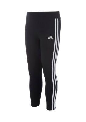 adidas Black 3-Stripes Tight Girls 4-6x