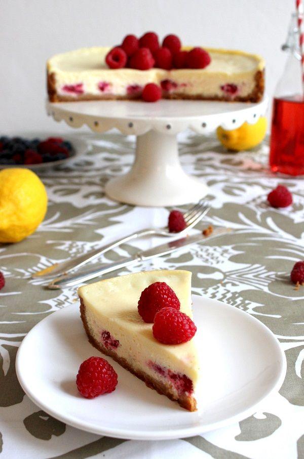 Raspberry-white chocolate cheesecake