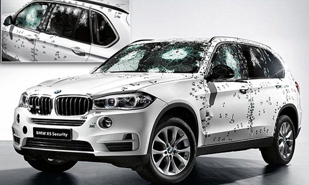 New BMW X5 Security Plus bullet-proof car can withstand fire from AK-47