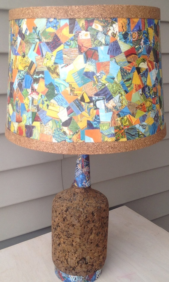 Lamp shade craft ideas pinterest for Lamp shade painting ideas