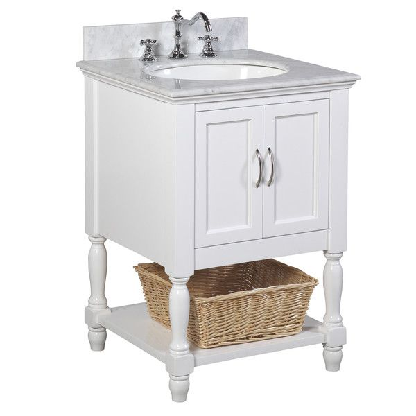 Beverly 24 Inch Vanity (Carrara/White)