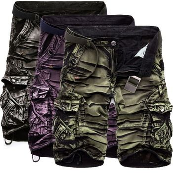 2016 New Arrival Fashion Men Cargo Shorts Homme Camouflage Summer Casual Cotton Military Shorts Brand Men Clothing Plus Size