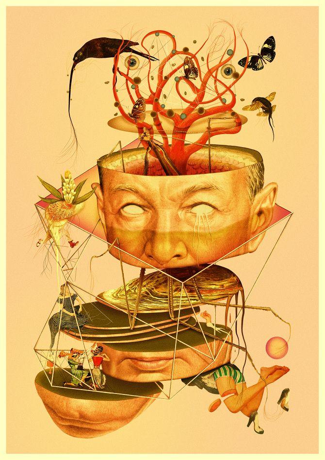 Pierre Schmidt. Very detailed, mixed media works... - SUPERSONIC ART