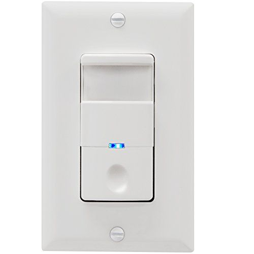 TOPGREENER TDOS5-J-W Motion Sensor Switch, No Neutral Required, PIR Passive Infrared Sensor, Occupancy Sensor Wall Switch, 500W 1/8HP, Ground Wire Required, Single Pole, White - TOPGREENER TDOS5-J Motion Sensor Switch automatically turns ON/OFF the lights and motors according to the motion (occupancy/vacancy) detected in the room.Two modes: In OCC mode lights are automatically turned on when you enter a room and automatically turned off after the room is vacant. This is ...