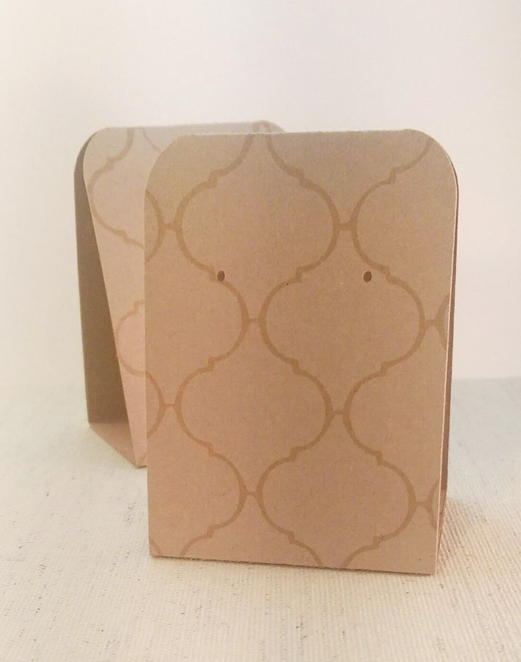 12 Earring Display Tent Cards White Moroccan Tile On Kraft