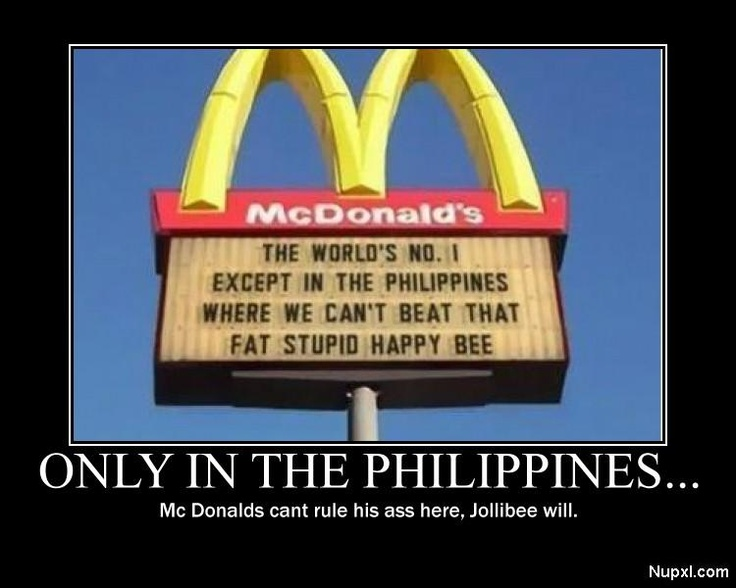 Only In Da Philippines :-) Sign Referes To Mc Donald's #1
