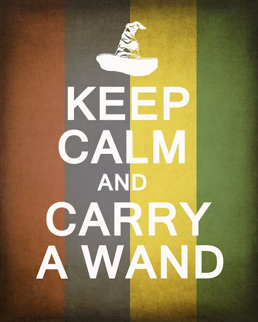 Carry a WandHogwarts, Harrypotter, Harry Potter Marathons, Keepcalm, Harry Potter Movie, Keep Calm, Magic Wands, House Colors, Movie Quotes