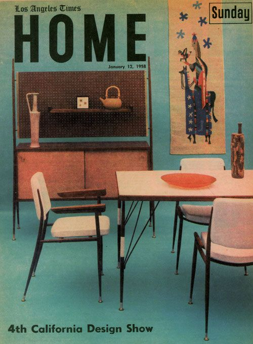 1958 Los Angeles Times Home Via Cathy Of California Vintage InteriorsDesign