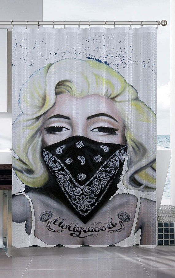 751e7f51c marilyn monroe gangster shower curtain from proliman on Etsy. Shop ...