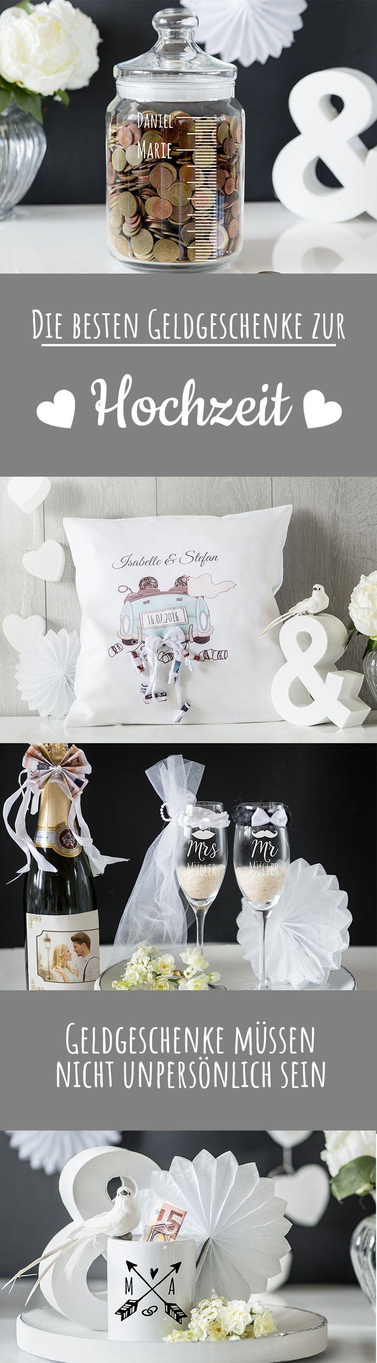 Die besten Geldgeschenke zur Hochzeit – ganz persönlich und individuell. #Hochzeitskissen #Personello #Personalisiert