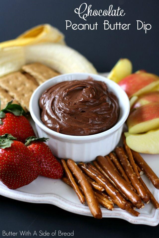 3 Ingredient Chocolate Peanut Butter Dip