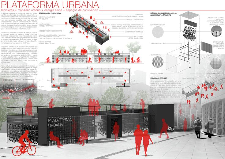 Galeria - Resultados do 1º Prêmio {CURA}: Bicicletário público em São Paulo - 9