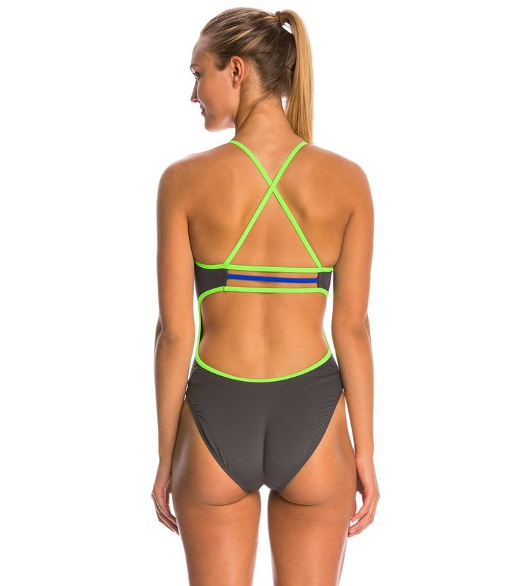 TYR Solid Brites Trinityfit One Piece Swimsuit at SwimOutlet.com – The Web's most popular swim shop