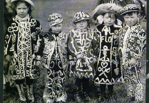 Pearly kids in London's East End. #pearly #children #london #costume #eastend