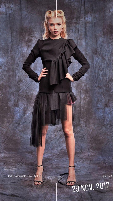 #flounce #rufflesjacket #jacket #style #fashion #atelier #passionbyd #blackjacket #shortjacket #stylishjacket #fashion #2017 #2018 #collection