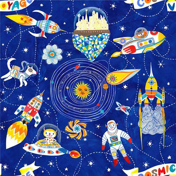 cosmic voyage pattern design on Behance