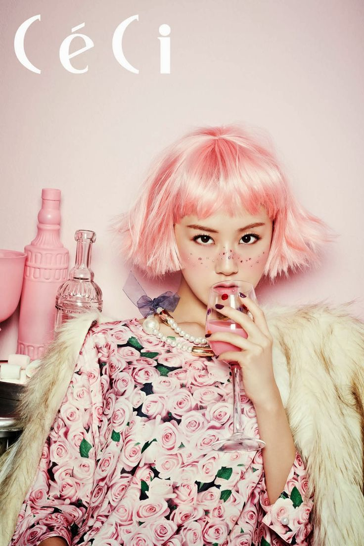 Pastel pink on pink with florals - styled fashion shoot | Quirky, obsure; sophistocated; girly; fashion photography | MINTY WARES | VIA - Gayoon // CeCi (October 2013) -
