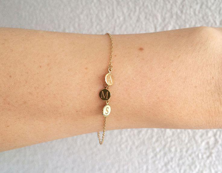 3er Buchstaben Armband – Giselle Jewelry