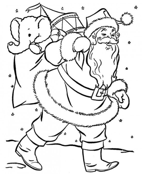 Christmas Santa Claus Coloring Pages Picture 3 550x672 picture