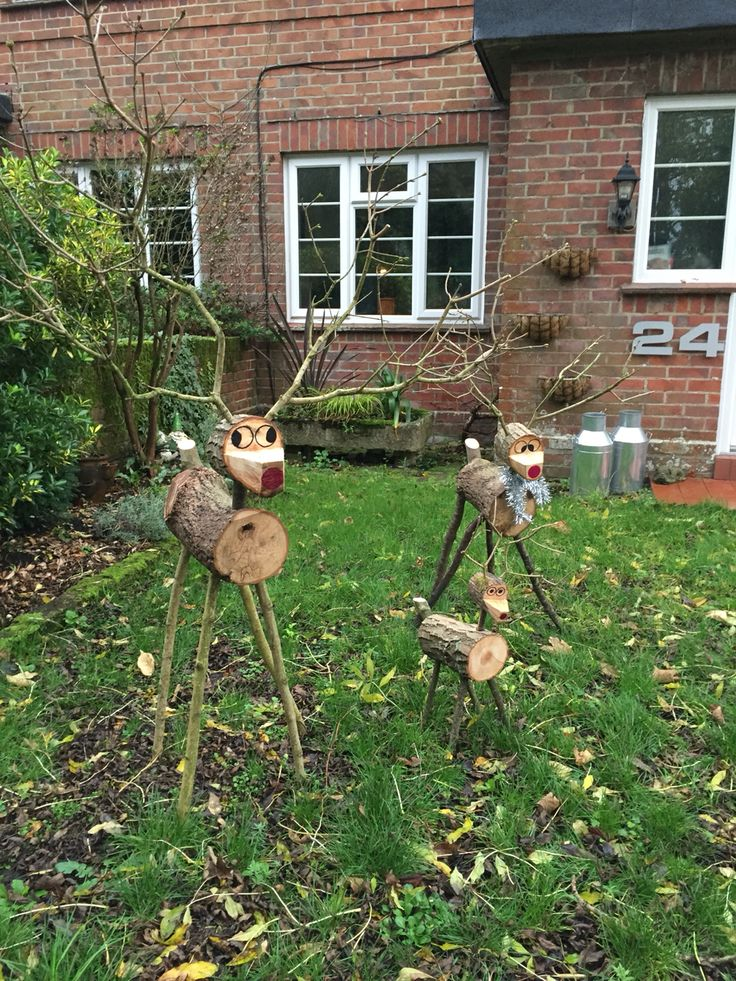 17 best images about reindeer made from logs on pinterest