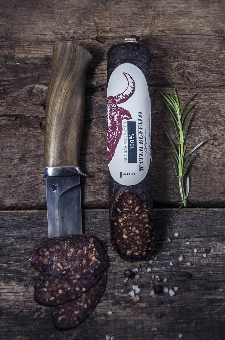 KOSHER STYLE 100% WATER BUFFALO PAPRIKA SALAMI      The Buffalos live together with the Grey Cattle in a national conservation protection area. Their meat is healthy and tasty, and has a different texture to Grey Cattle. The salami is free of any artificial additives.