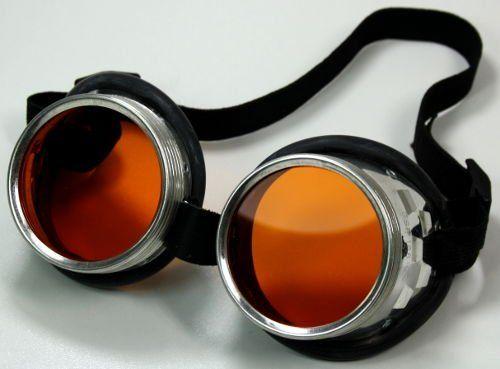 Fun - Schraubringbrille / Schweißerbrille mit orangen Gläsern