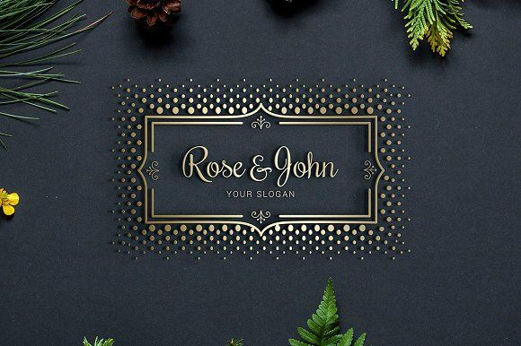 Luxury Gold Logo by Little Pines Designs on @creativemarket