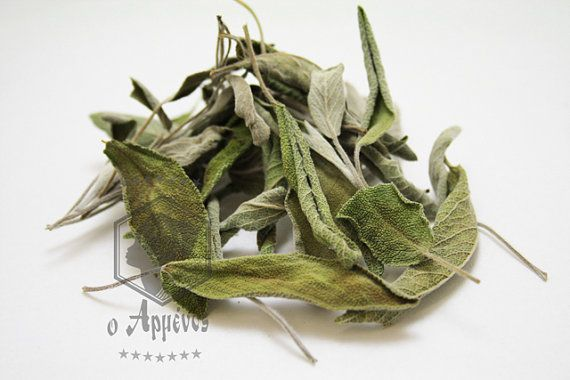 Greek naturally dried organic Sage Salvia natural by Armenos