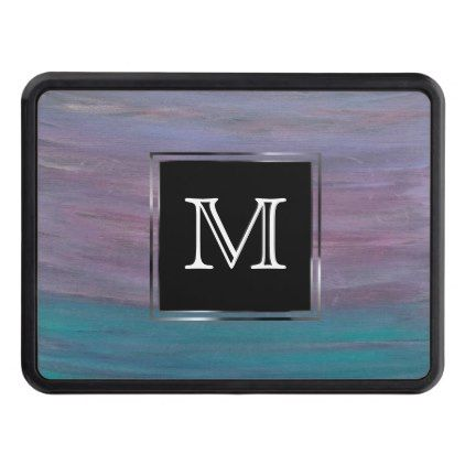 #monogrammed - #Visionary Auto | Monogram Pink Purple Turquoise Hitch Cover