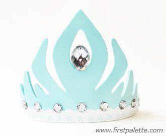 Eiskönigin/ Frozen Krone basteln.