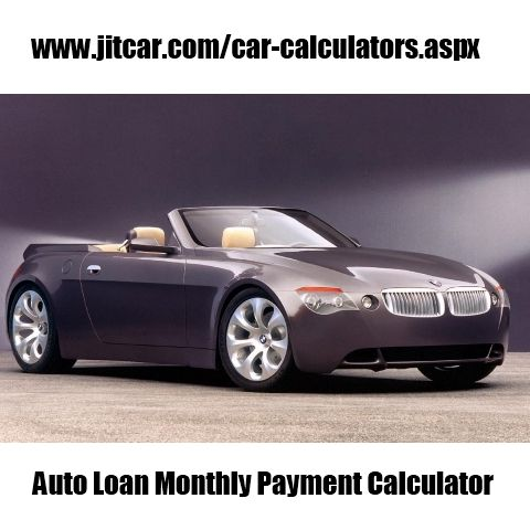 Auto Loan Monthly Payment Calculator  New Car Quotes